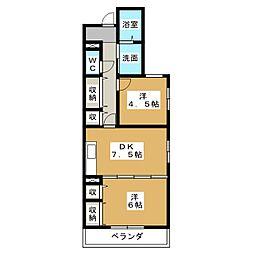 メルベーユII[1階]の間取り