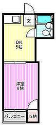 ロータリーマンション萱島[3階]の間取り