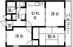 長井マンション[301号室号室]の間取り