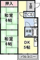 葵マンション[203号室号室]の間取り