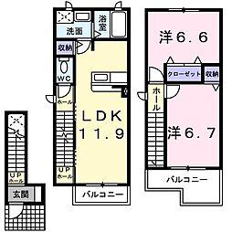 ファミーユ森田 (ファミーユモリタ)[2階]の間取り