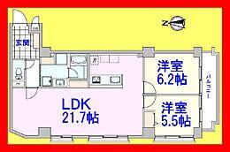 全室採光の角部屋