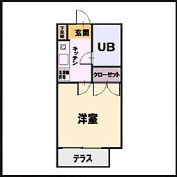 TOYO高倉ハイツ[202号室]の間取り