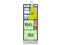 サンハイムE[2階]の間取り