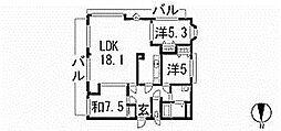 アメニティ三萩野[10階]の間取り