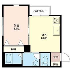 ココハイツ[2階]の間取り