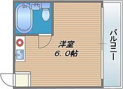 マキシム深江橋[401号室]の間取り