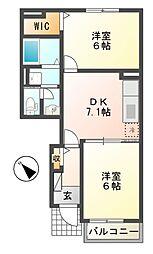 マーガレットハウス[1階]の間取り