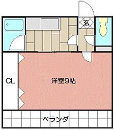 ガーネットホーム[205号室]の間取り