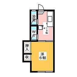 さくらコーポ[1階]の間取り