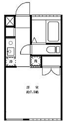 東京都新宿区四谷3丁目の賃貸マンションの間取り