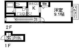 Estudio西泉堂[206号室号室]の間取り