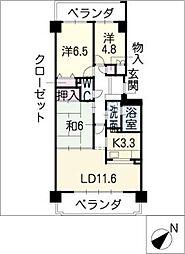 コープ野村新安城南壱番館1305[13階]の間取り