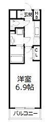 エグゼ北大阪[4階]の間取り
