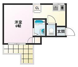 阪口ハイツ[4階]の間取り