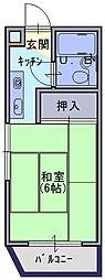 パンションイワイマチI[3階]の間取り