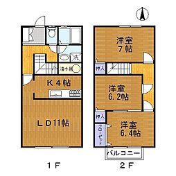 愛知県半田市宮本町4丁目の賃貸アパートの間取り