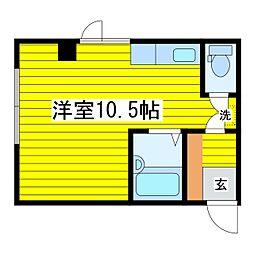 北海道札幌市東区北十三条東8丁目の賃貸マンションの間取り