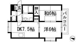 パルクレスト宝塚[2階]の間取り