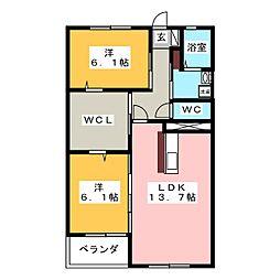 第2田中ビル[6階]の間取り