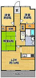 ドマーニ三田横山[206号室]の間取り
