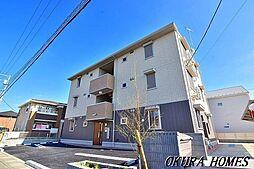 埼玉県越谷市レイクタウン2丁目の賃貸アパートの外観