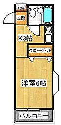 トシマハイツ[201号室]の間取り