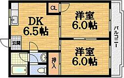 アネックス桃山[2階]の間取り