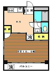 東京都板橋区徳丸7丁目の賃貸マンションの間取り