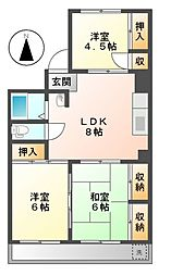 ハイム本山[3階]の間取り