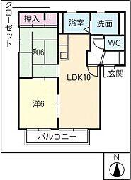 コーポミニ[2階]の間取り