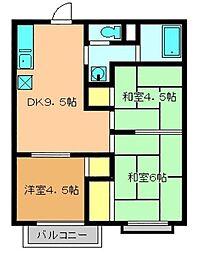 グランドソレイユ[3階]の間取り