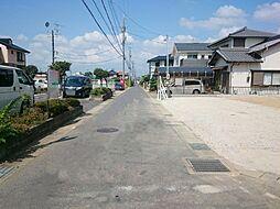 前面道路写真。...