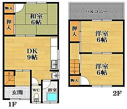 [テラスハウス] 大阪府松原市阿保7丁目 の賃貸【/】の間取り