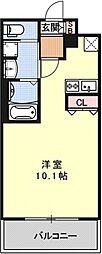 アクアプレイス京都西院[305号室号室]の間取り