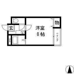 ラポルテじゅじゅ[303号室号室]の間取り