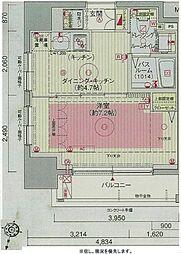 エステムプラザ飯田橋タワーレジデンス 11階1DKの間取り