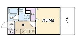 サンコーコバーハウス[402号室]の間取り