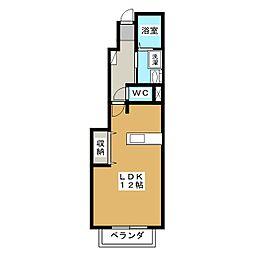 コンフォートレジデンス[1階]の間取り