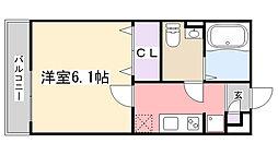 千葉県船橋市滝台町の賃貸アパートの間取り
