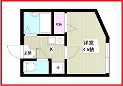 東京都墨田区向島5丁目の賃貸アパートの間取り