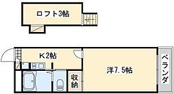レオパレス芳山荘 2[201号室]の間取り