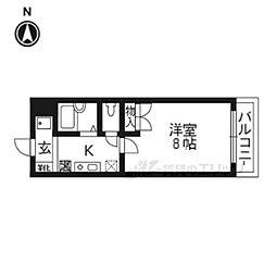 JR東海道・山陽本線 南草津駅 バス4分 若草1丁目下車 徒歩3分の賃貸マンション 3階1Kの間取り