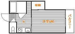 東京都中野区上鷺宮2丁目の賃貸アパートの間取り