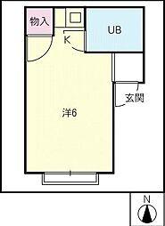 パインコーポ[2階]の間取り