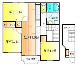 グランデュール[2階]の間取り