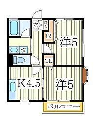 カームハウス参番館[1階]の間取り
