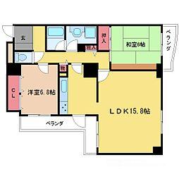 グランツ新大阪[2階]の間取り