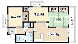 愛知県名古屋市南区鶴田2丁目の賃貸マンションの間取り