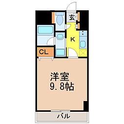愛知県名古屋市瑞穂区駒場町2丁目の賃貸マンションの間取り